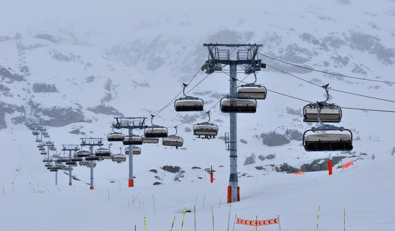 Cable car at Alpe d'Huez Ski Resort France